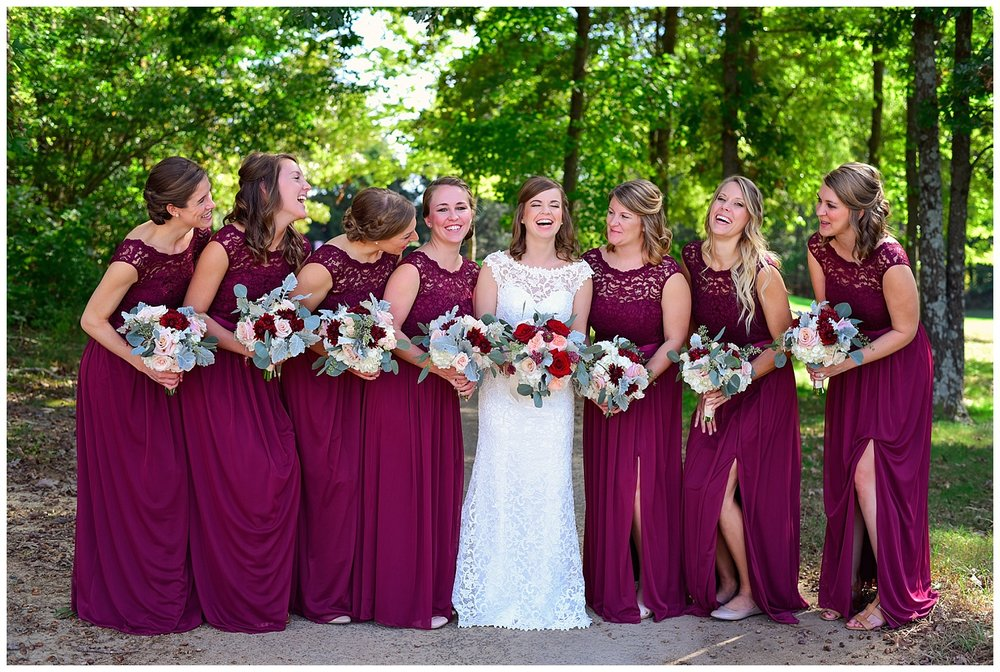 Golf Course Wedding bridesmaids