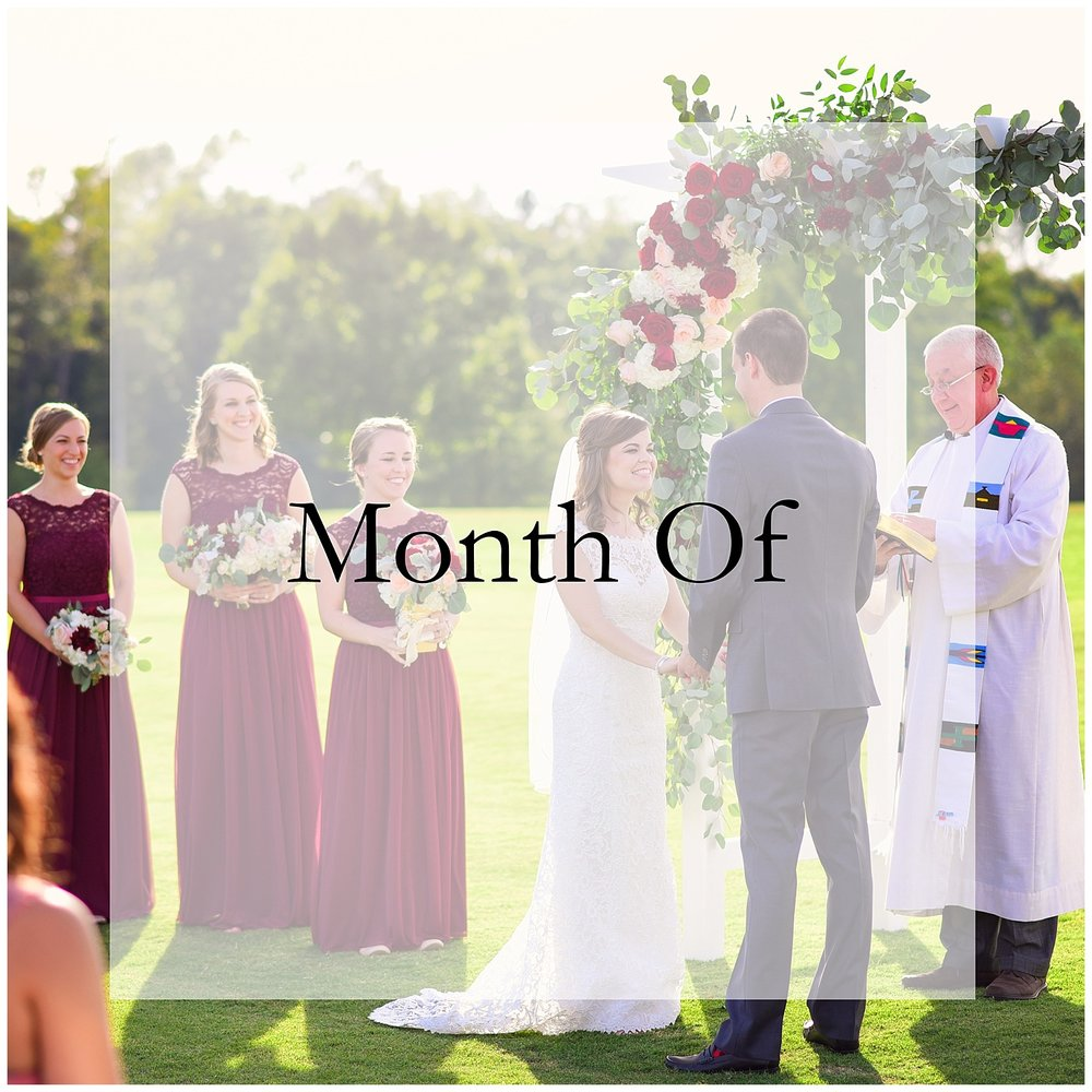 what to do 1 month before wedding