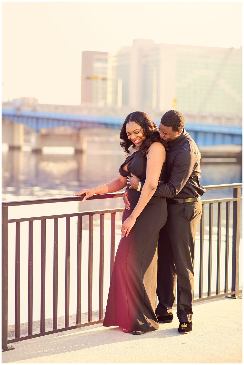 Jacksonville Skyline Engagement Photos