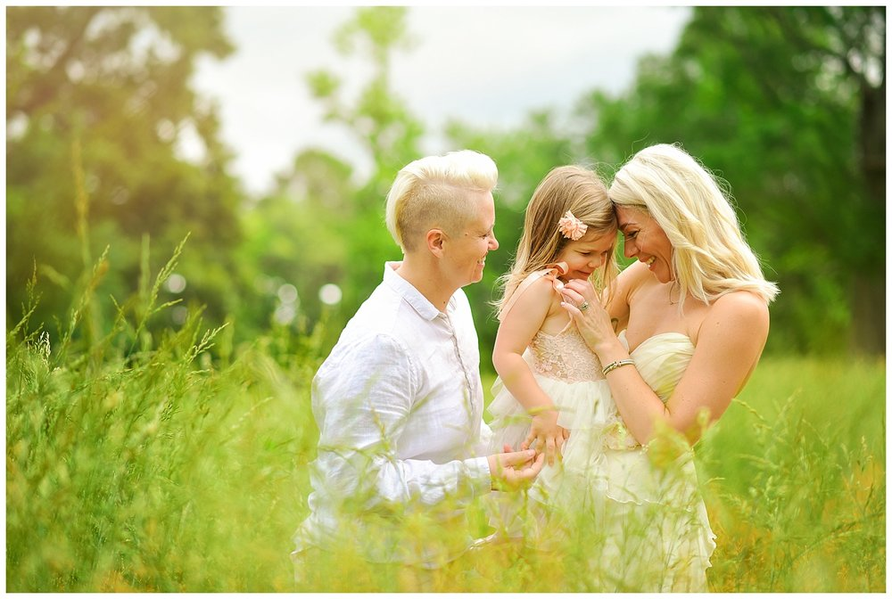 Lesbian Wedding with flower girl