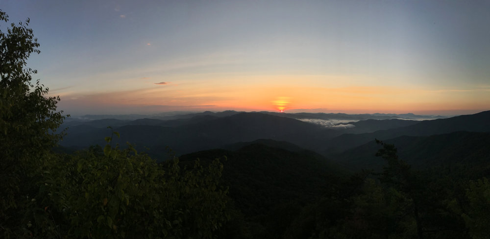Sunrise on Tennessee Appalachian Trail