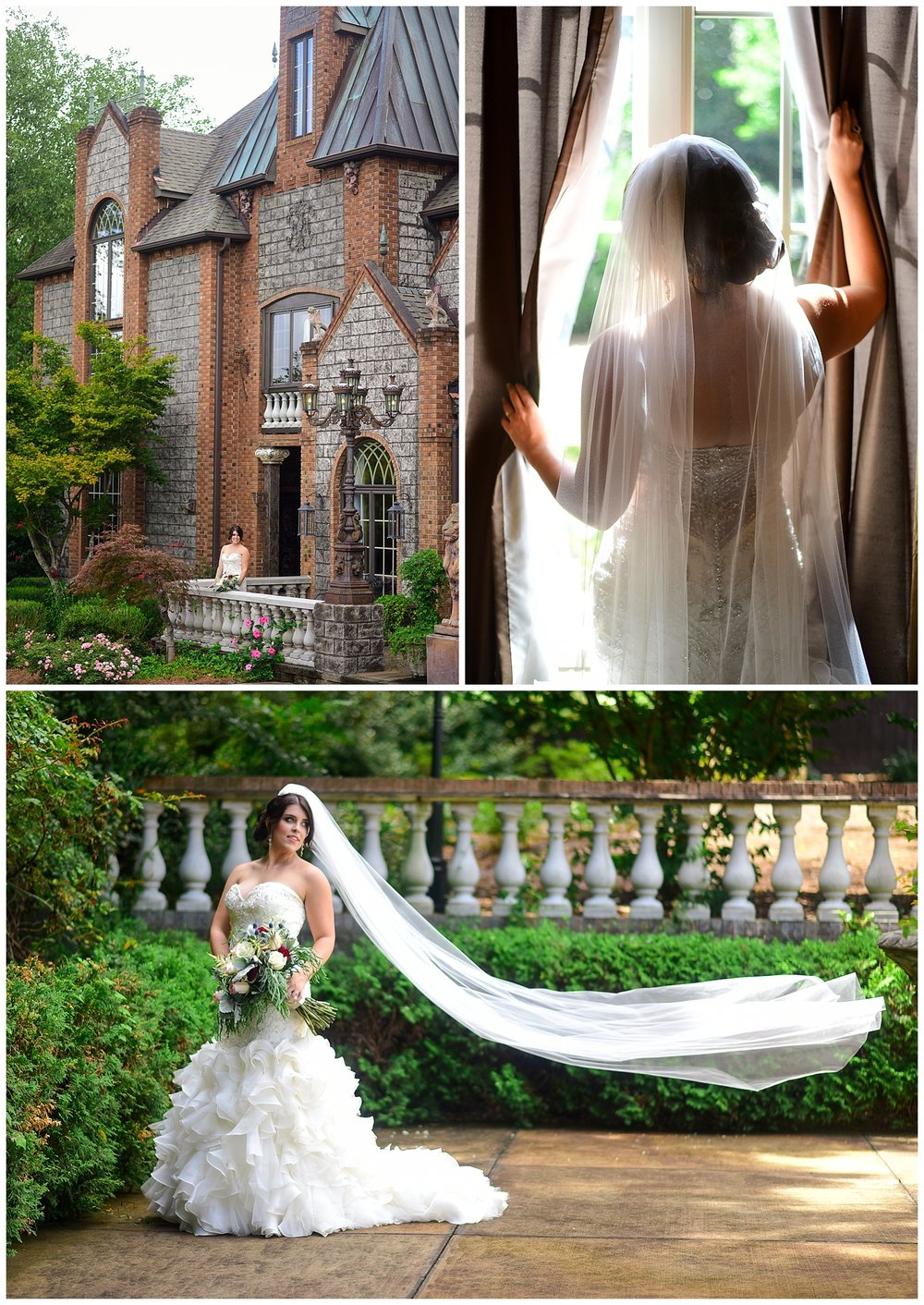 Bridal Portraits at Barclay Villa in Angier NC