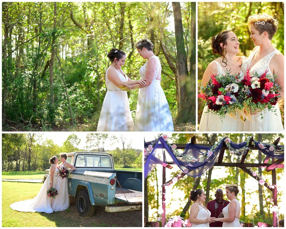 LGBTQ farm wedding