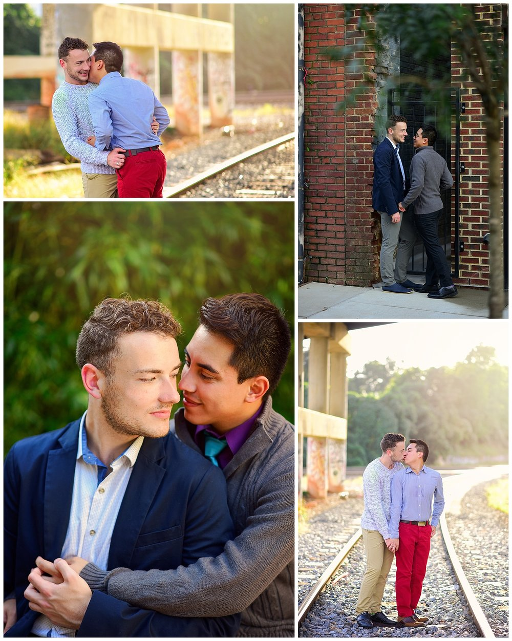 LGBTQ couple downtown raleigh