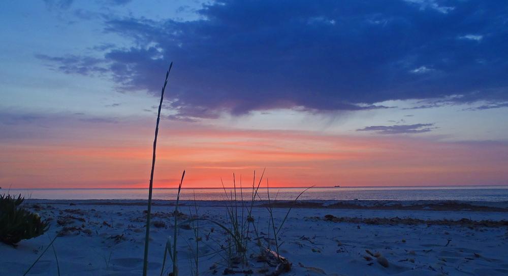Sunrise at Costa Rei