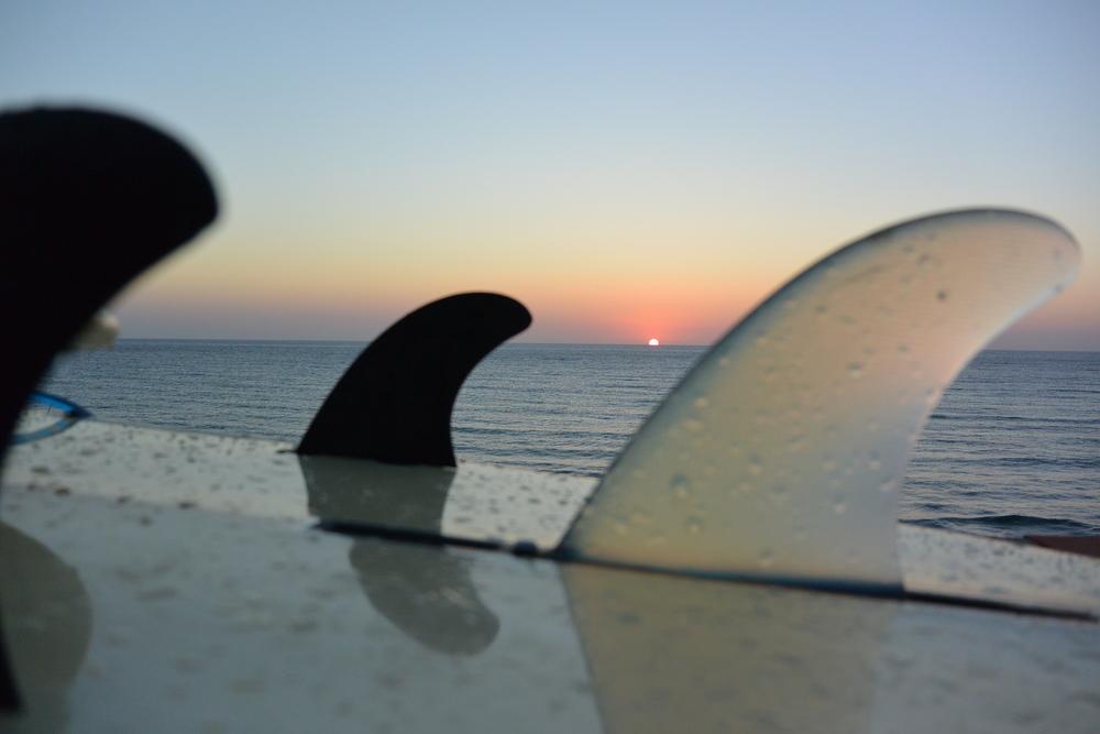 Sunset at San Nicolò Beach