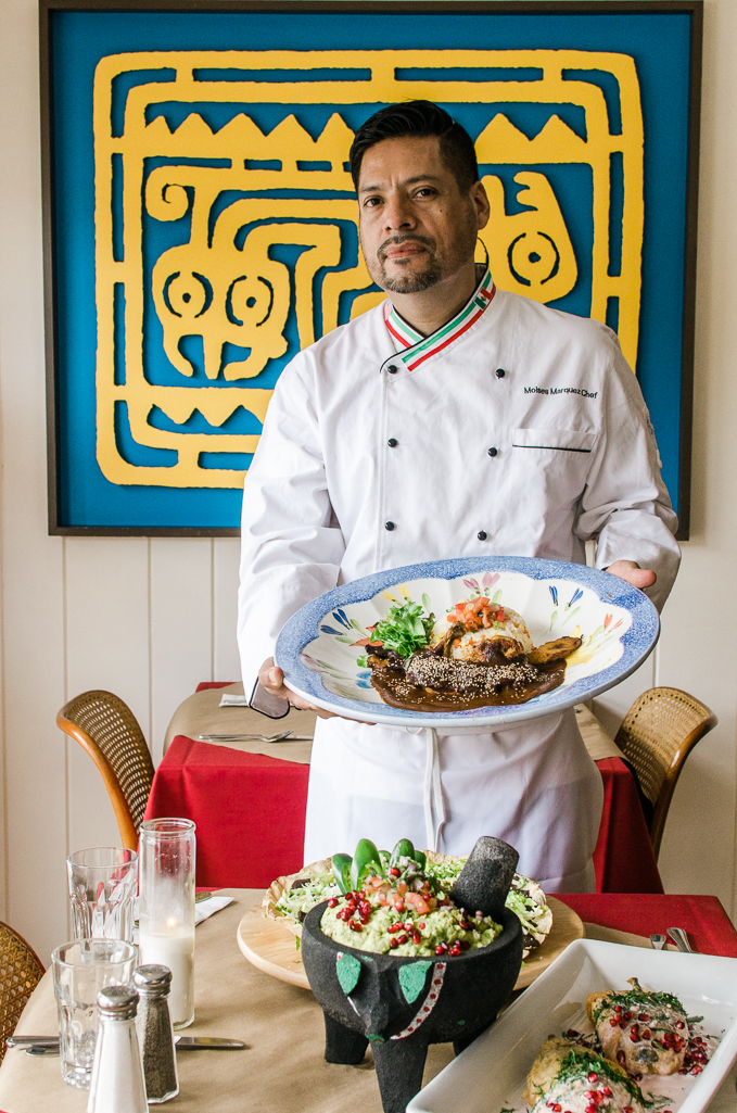 Chef Moises Marquez hails from Puebla, Mexico.  Cinco de Mayo celebrates the victory at the Battle of Puebla in 1862. Photo: Deirdre Malfatto