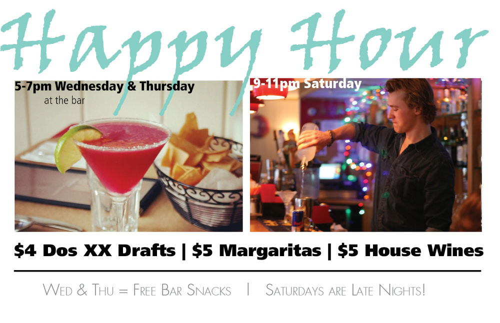 Happy Hours - Wed/Thu/Sat