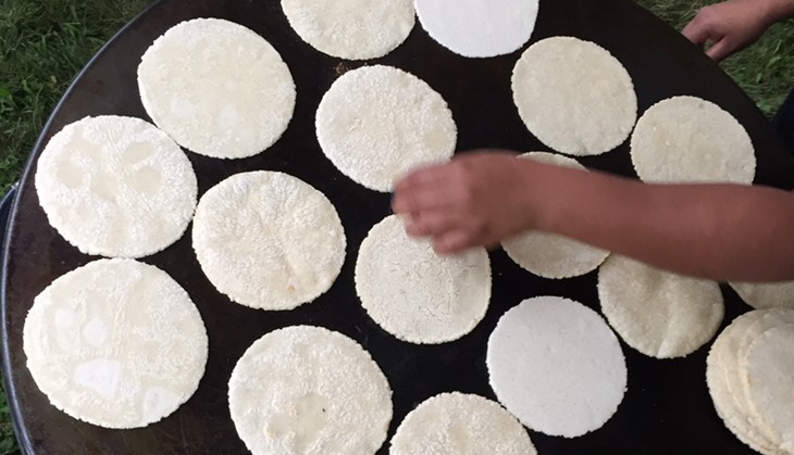 Tortillas - made with locally grown and house milled corn