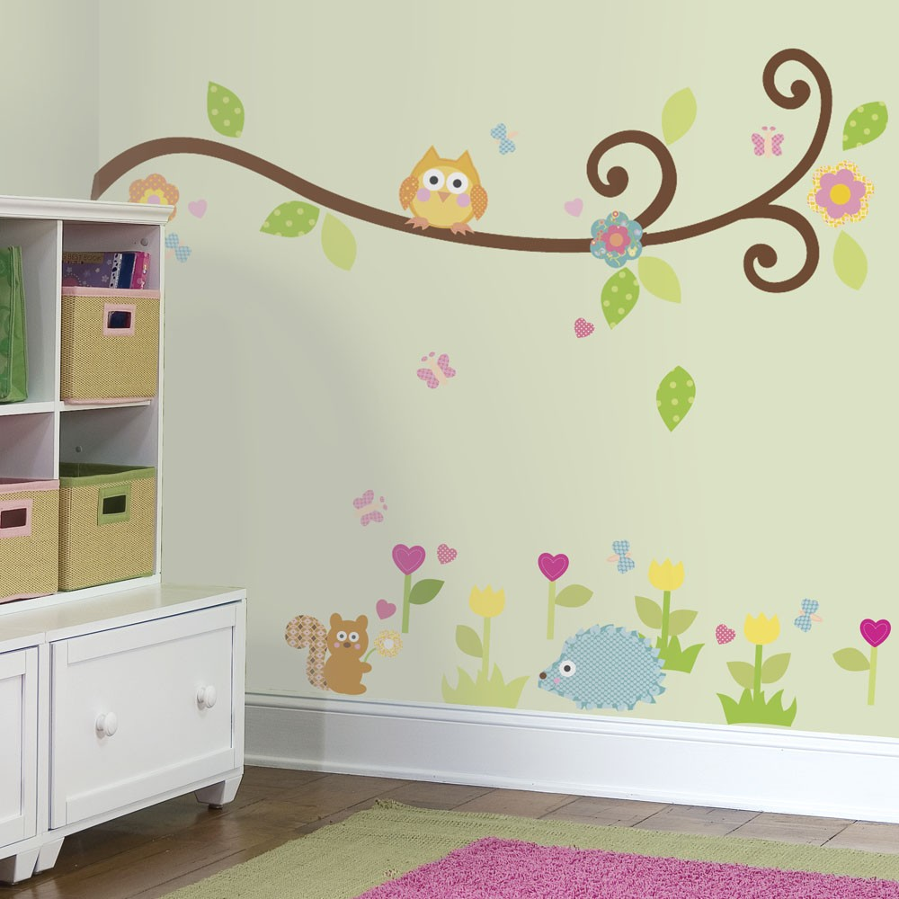 Happi Scroll Tree Branch Wall Decal