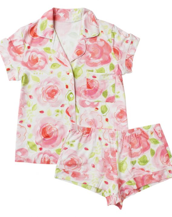 10bdbf2be6 Bella Rosa Short-Sleeved Knit Short Set — Dena Designs