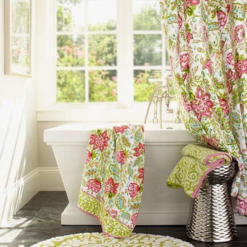 Floral Ikat Shower Curtain