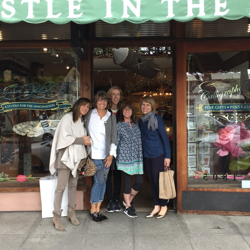 The girls in front of Castles In The Air in Berkley, CA. From left to right- Me, Tina, Anne, Kathleen & Brenda