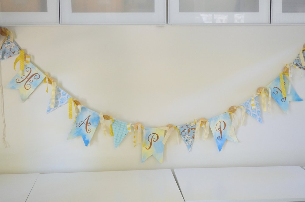 Wemade fun fabric and paper banners!