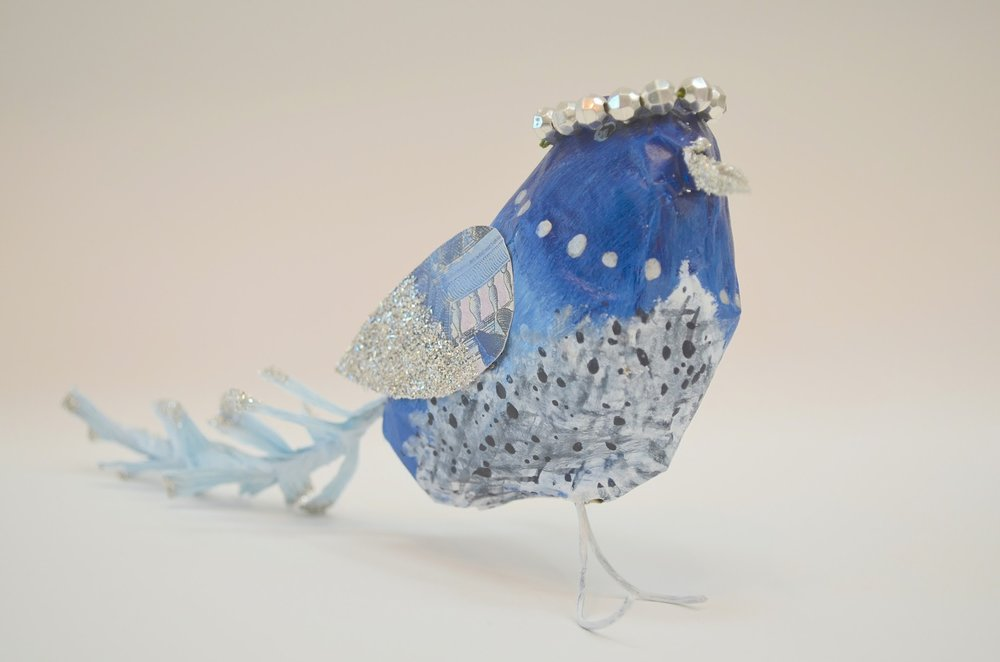 This adorable bird was made by Tina Higgins!