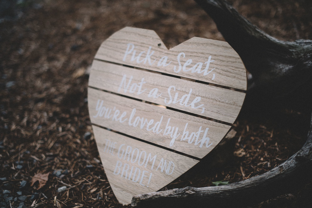 Wedding details at Shenandoah Woods