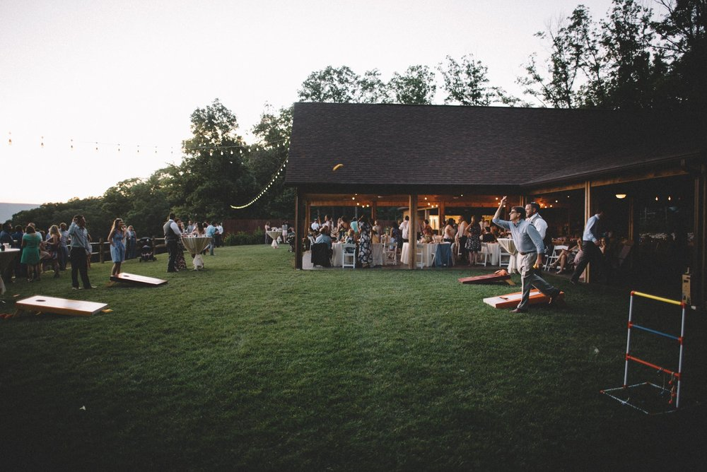 Wedding reception in Shenandoah Woods