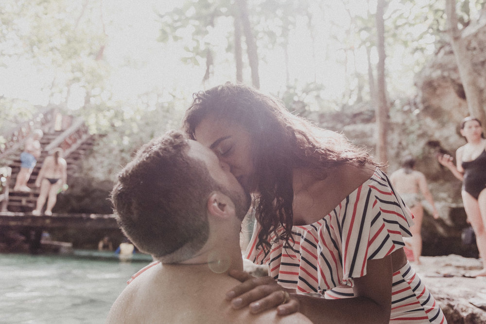 grand cenote engagement session