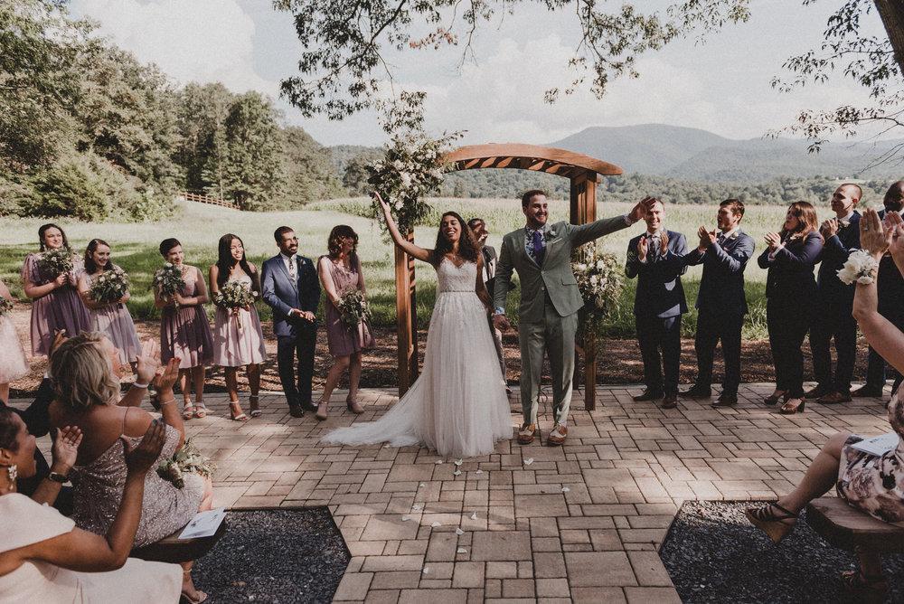 Shenandoah Woods wedding ceremony.