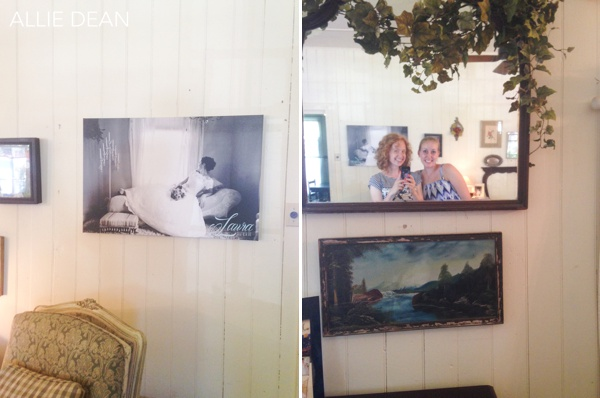 Laura Elizabeth's artwork is on display at the Sisterdale Dancehall wedding venue!
