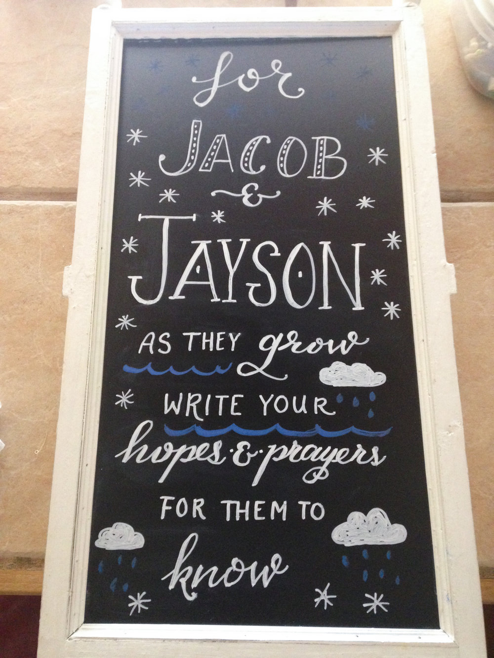 Day 24: chalk board for a baby shower!