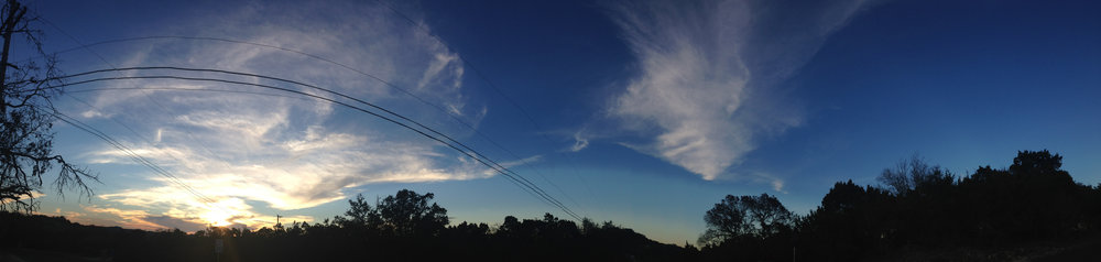 Day 26: panoramic of my south Texas sky