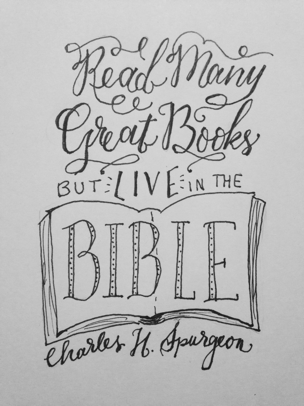 Day 66: lettering project for the week