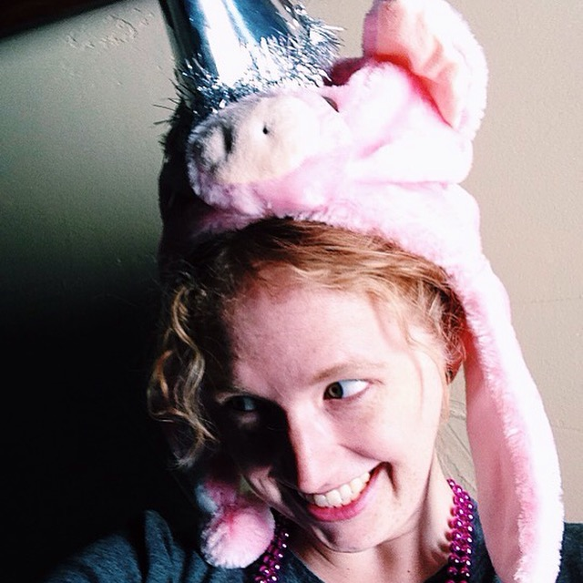 This photographer has been known to wear pig and party hats