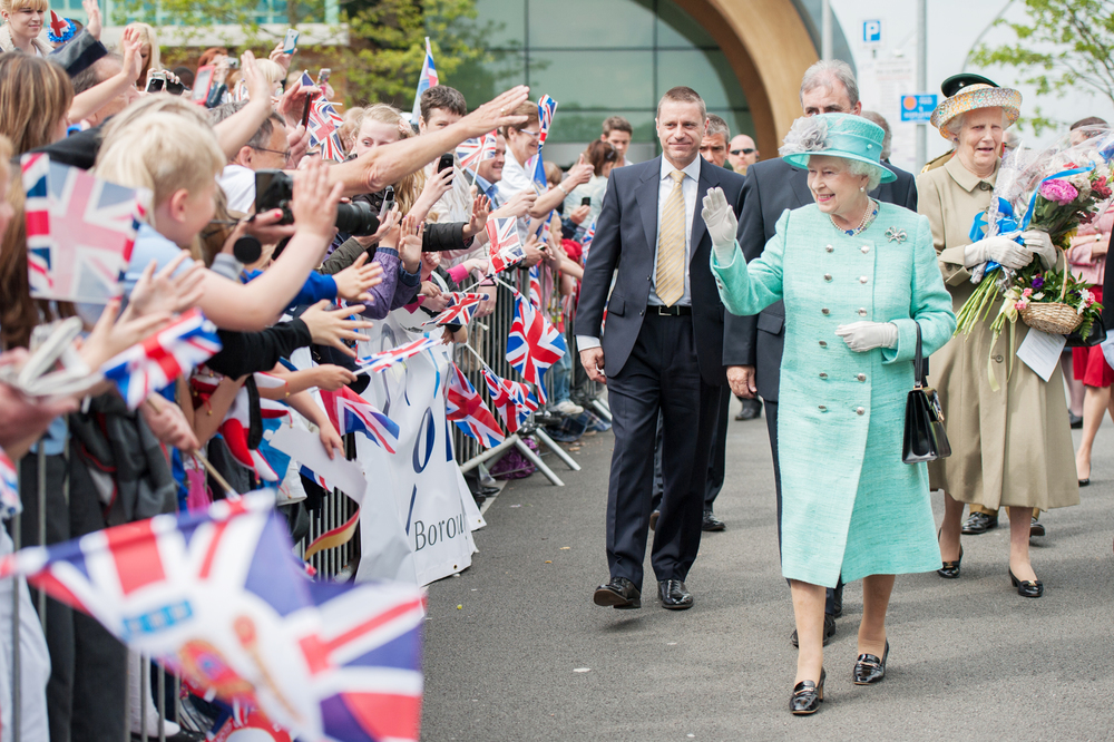ROYAL VISIT TO THE CORBY CUBE