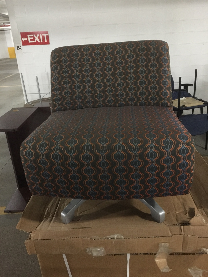 Armless Swivel Occasional Chair   Pattern