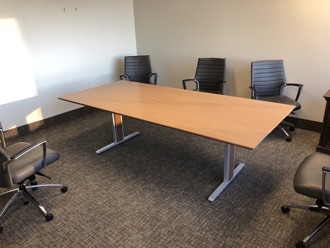 8 Rectangle Boardroom Table Walnut Premiere Used Office Furniture