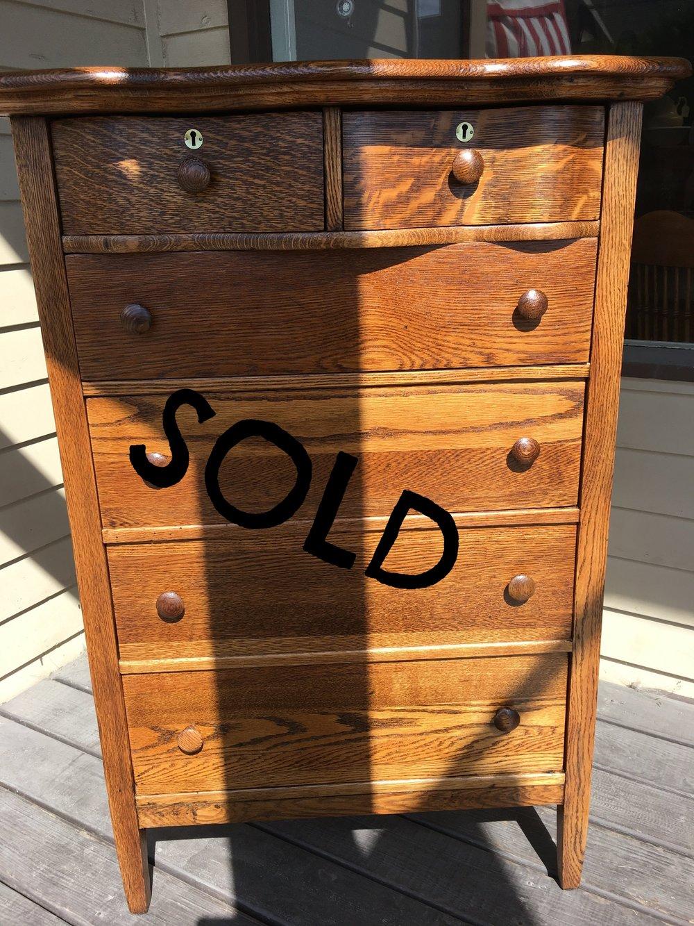 Tall Oak Dresser