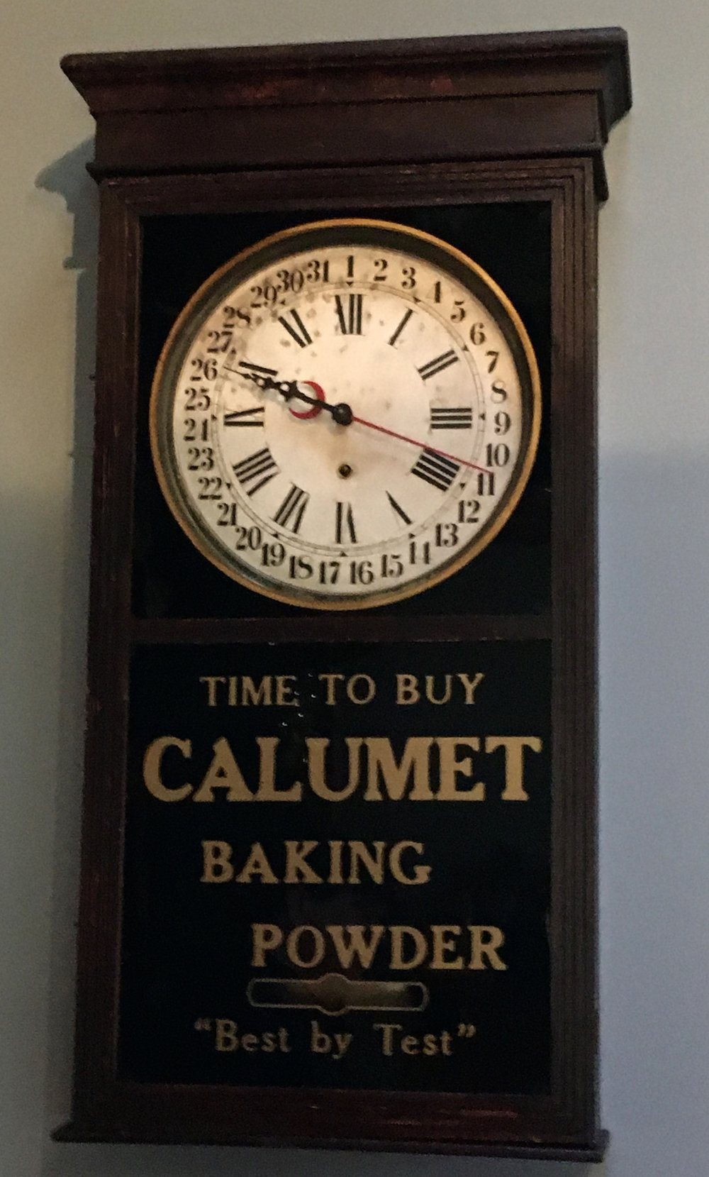 """Calumet Baking Powder Clock"""