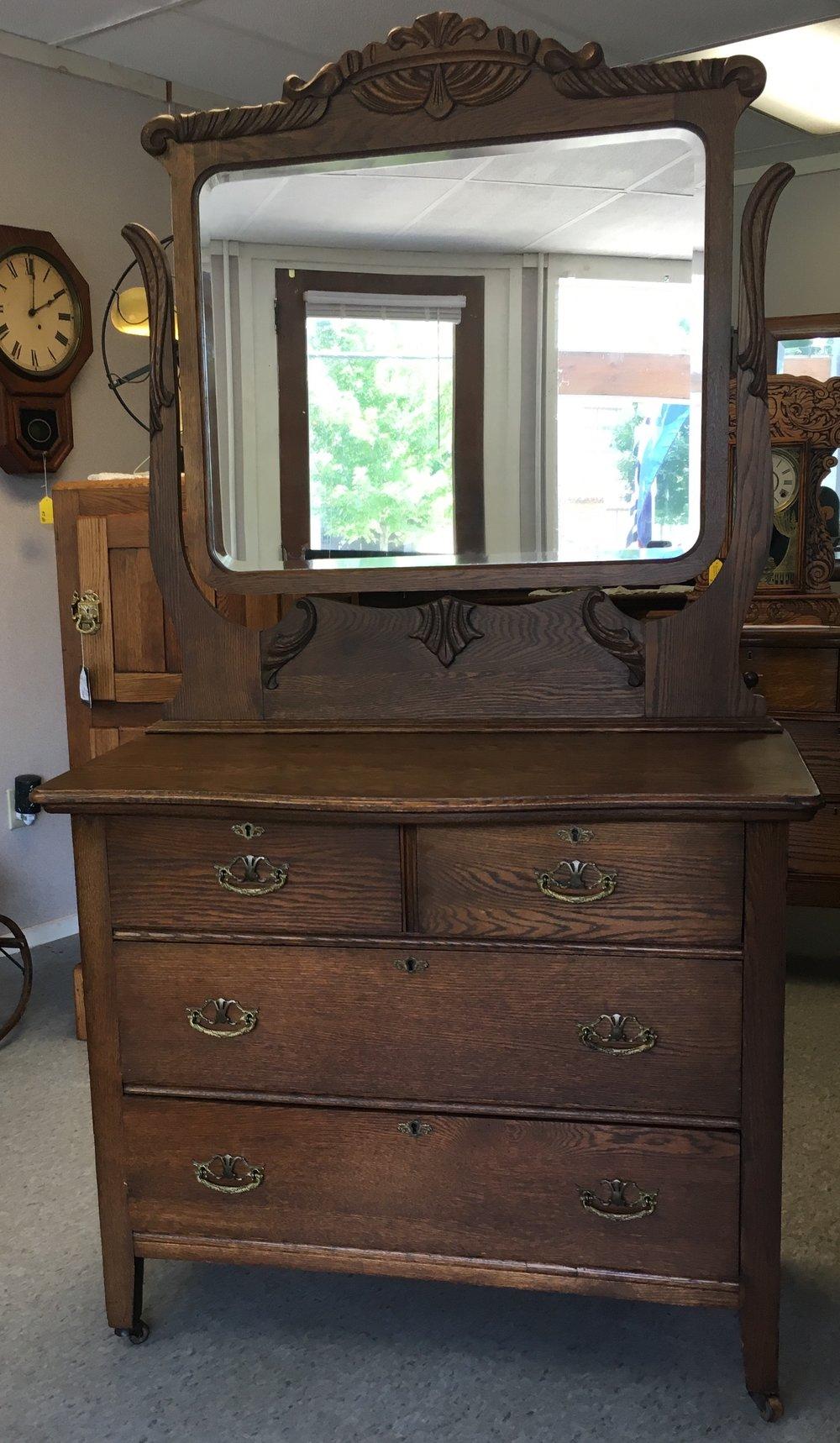 2/2 darker oak dresser