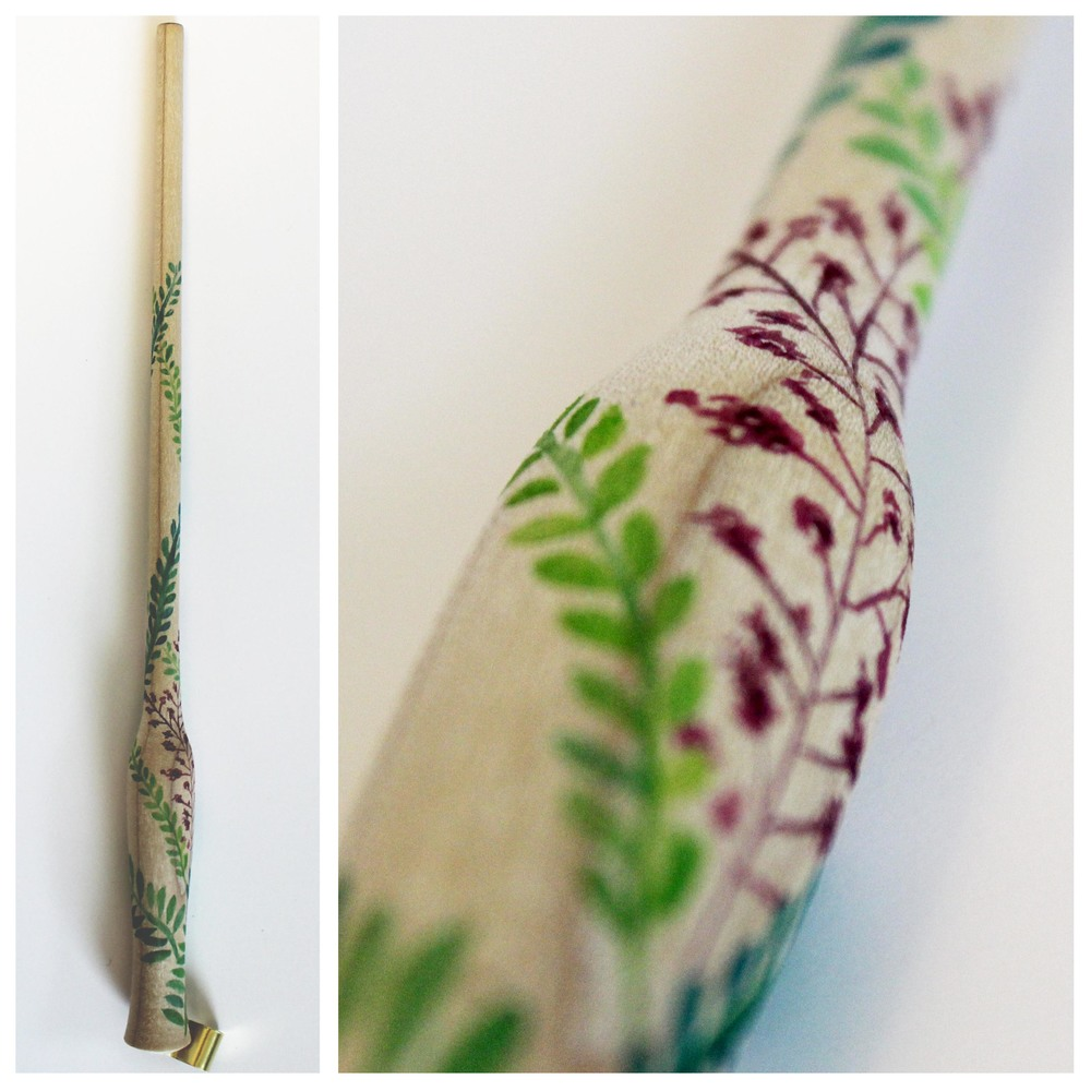 Floral Watercolor Calligraphy Nib Holder by Ashley Bush