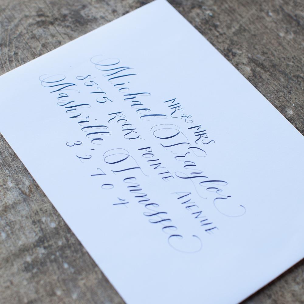 Creative Spotlight: Elsa B Duncan of Mint Tea Calligraphy on Ashley Bush Blog