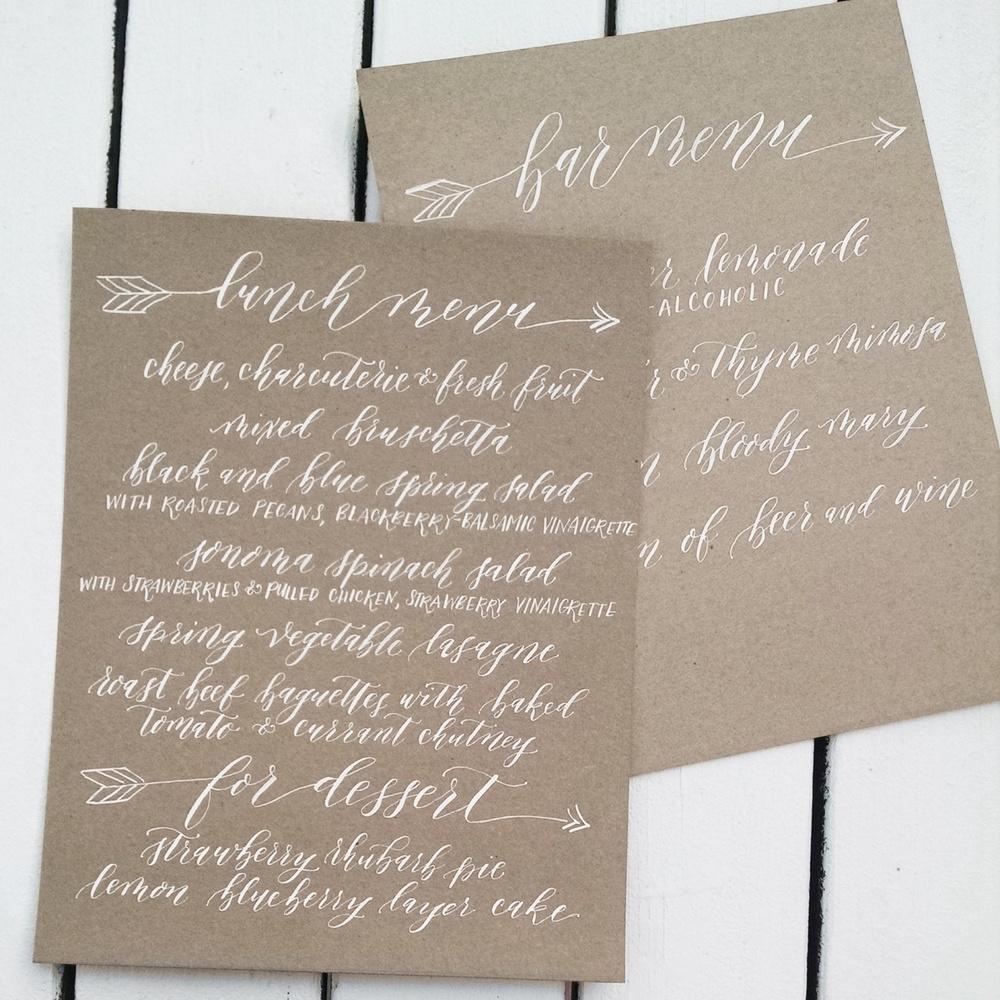 Creative Spotlight: Elsa B Duncan of Mint Tea Calligraphy on Ashley Bush Blog