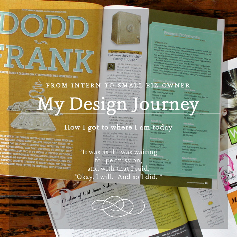 My Design Journey: From Intern to Small Business Owner on Ashley Bush Blog