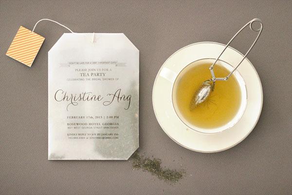 Joy Ang's Teabag Invitations