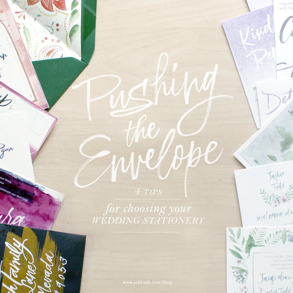4 Tips on Choosing Your Wedding Stationery