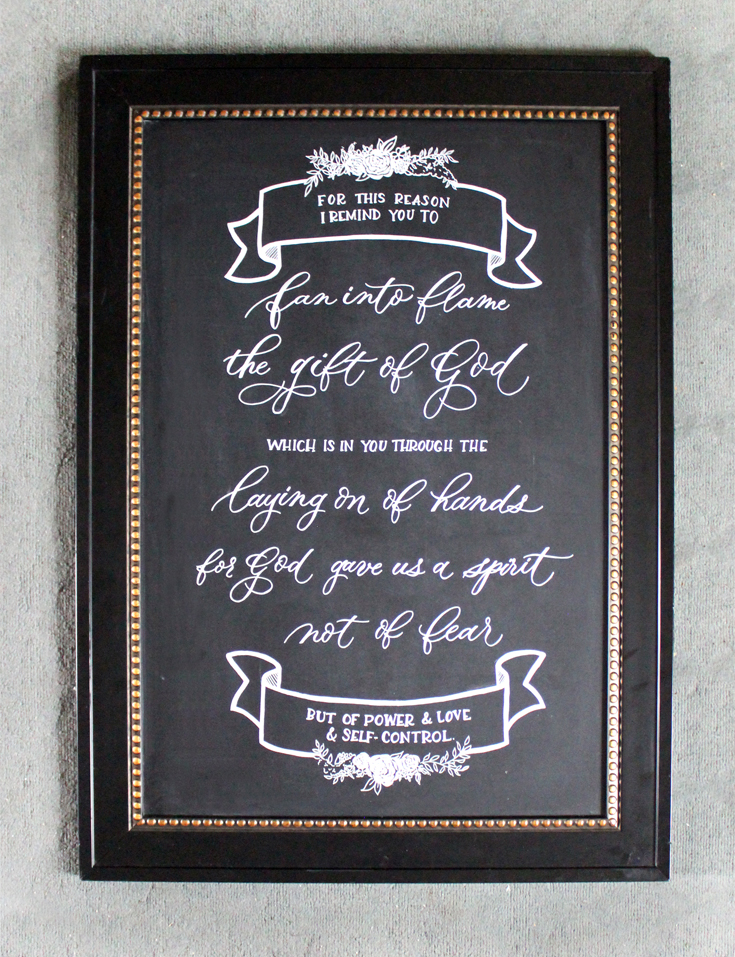 How to get perfect chalkboard lettering on Ash Bush Blog