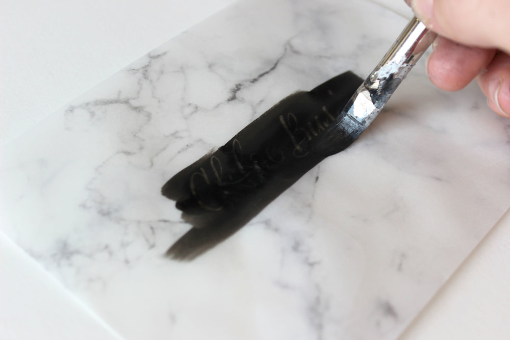 Masking Fluid Envelope Calligraphy How-To on Ash Bush Blog