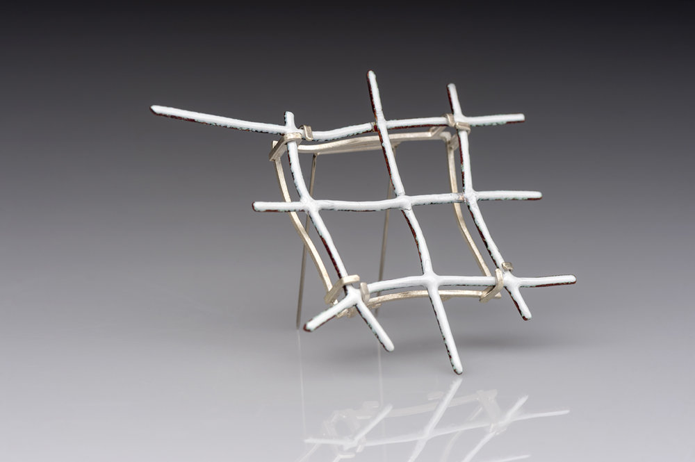 Grid Brooch