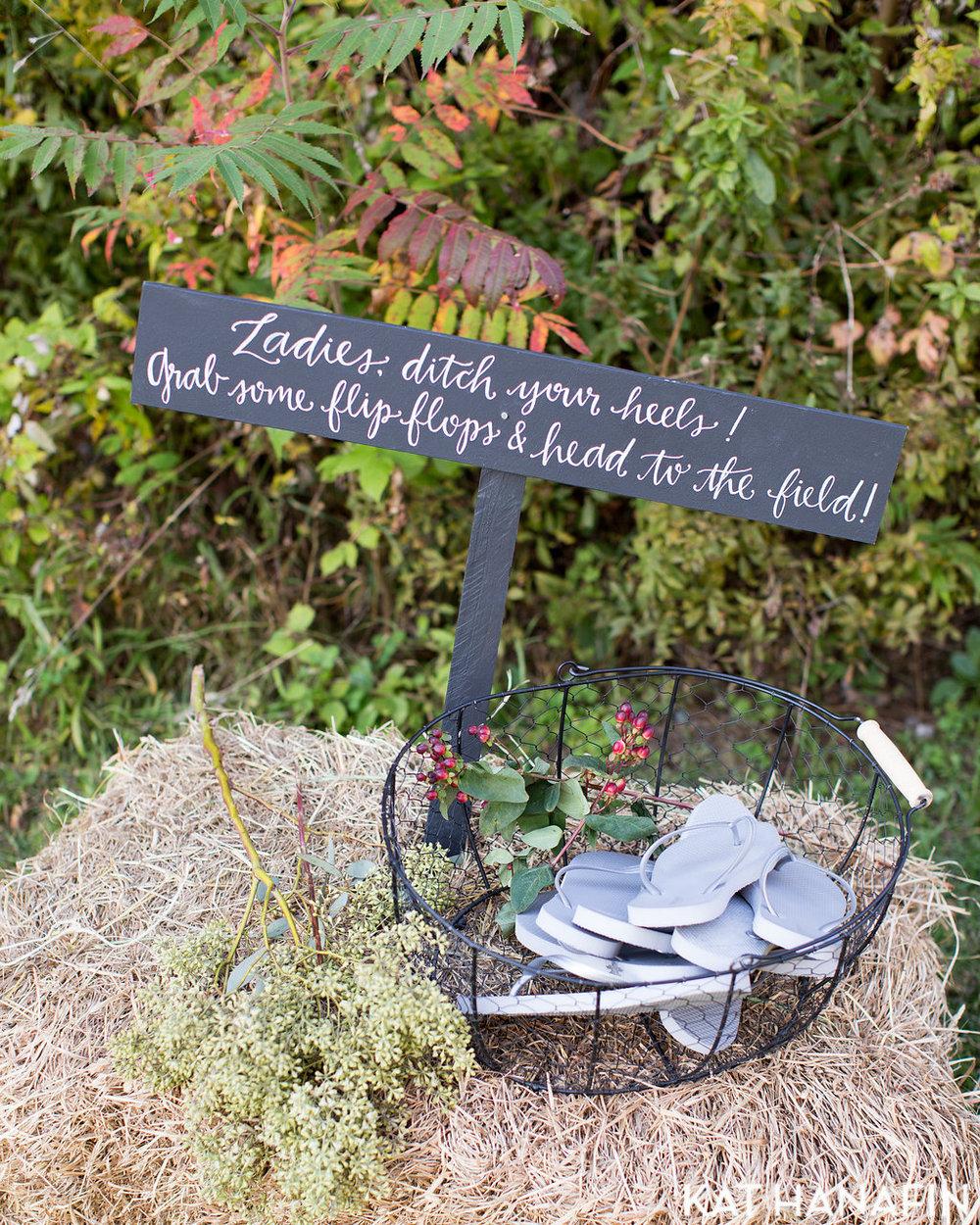 Yennygrams Wedding Flip Flop Signage