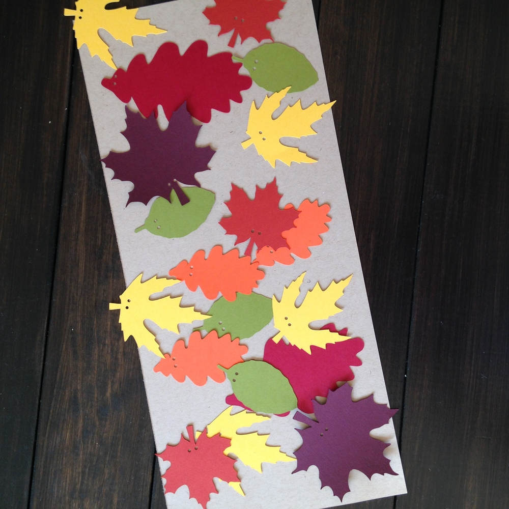 Yennygrams Cricut Cutout Leaves