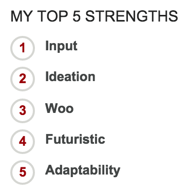 Yenny's Top 5 Strengths