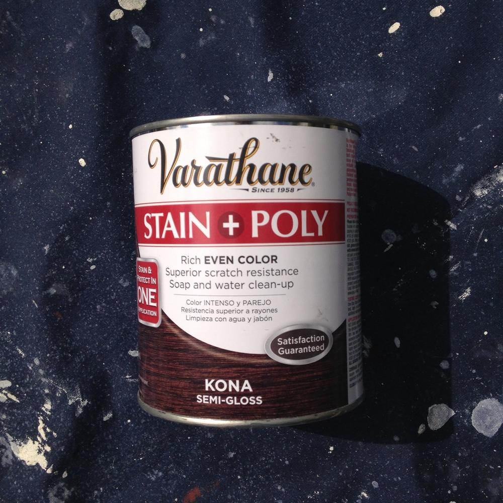 Varathane Stain + Poly Can - DIYennygrams