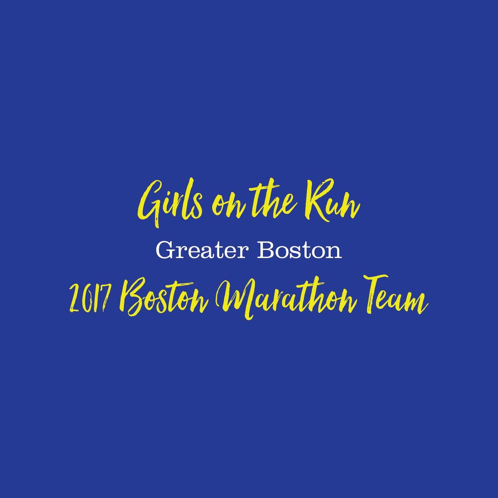 Girls on the Run Greater Boston | 2017 Boston Marathon Team