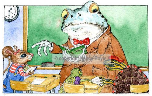 Professor Frog's classroom