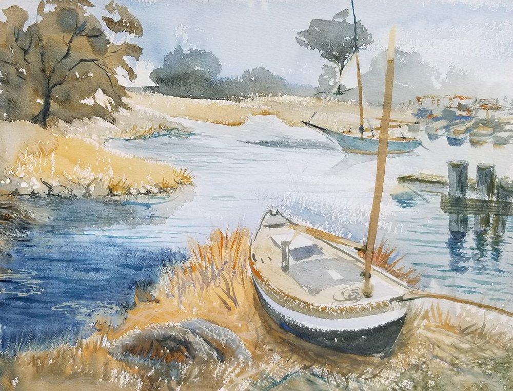 Essex River boatyard